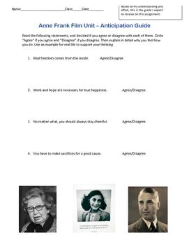 Anne Frank Film Unit *CCSS Aligned