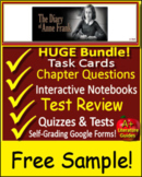 Anne Frank Novel Study The Diary of a Young Girl  - FREE Sample!