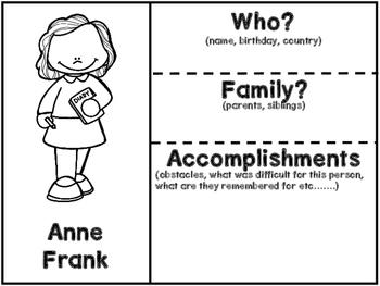 Anne Frank Graphic Organizers
