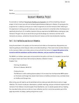 Anne Frank Holocaust Memorial Project (New England Holocaust Memorial)