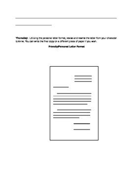 Anne Frank: Homework Packet #2 Character Analysis