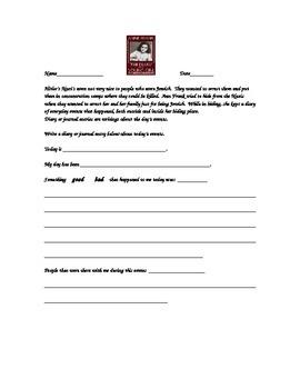 Anne Frank Journal Entry