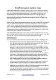 Anne Frank Lapbook Guidance Document