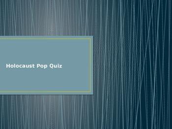 Anne Frank Plickers Quiz