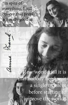 Anne Frank - Poster with Quotes