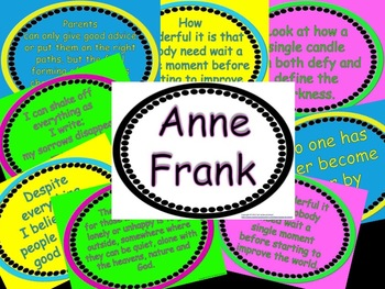Anne Frank Quotes in Poster Form for Bulletin Boards
