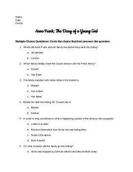 Anne Frank Test (Modified)