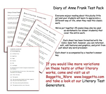 Anne Frank Test Pack
