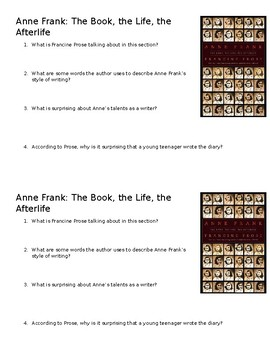 Anne Frank: The Book, the Life, the Afterlife Mini-Quiz