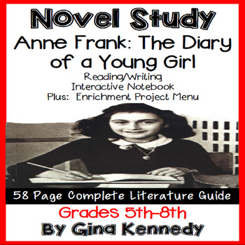 The Diary of Anne Frank Novel Study and Project Menu