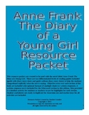 Anne Frank The Diary of a Young Girl Resource Packet
