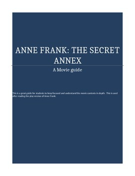 Anne Frank The Movie