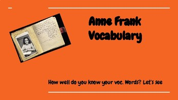 Anne frank curriculum teaching resources teachers pay teachers anne frank vocabulary google slides ediiton anne frank vocabulary google slides ediiton fandeluxe Image collections