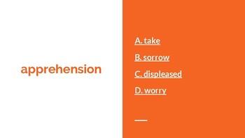 Anne Frank Vocabulary Google Slides Ediiton