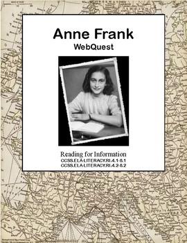 Anne Frank-World 2- WW II, WW2, WWII-WebQuest