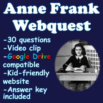 Anne Frank Webquest (Holocaust)