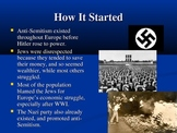 Anne Frank and the Holocaust:  Power Point Presentation