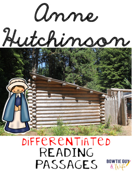 Anne Hutchinson Differentiated Reading Passages