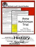 Anne Hutchinson Puritan Trial American Document Analysis Activity