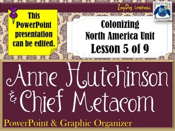 Anne Hutchinson Metacom's Rebellion PowerPoint and Graphic Organizer
