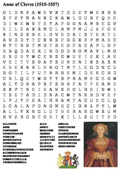 Anne of Cleves Word Search