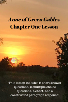 Anne of Green Gables- Chapter 1 Questions and Activities