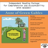 Anne of Green Gables Independent Reading Package With Quizzes