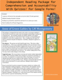 Anne of Green Gables Independent Reading Package with Quiz