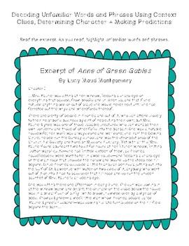 Anne of Green Gables Literature Spotlight
