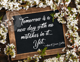 Anne of Green Gables Motivational Poster Tomorrow Is a New