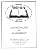 Anne of Green Gables Notebooking and Copywork Pages - Curs