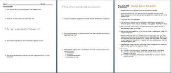 Annelids Homework Assignment
