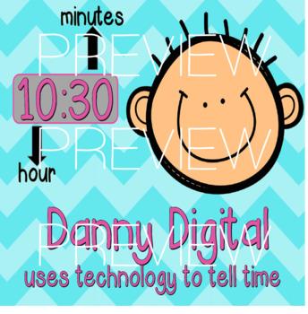 Annie Analog & Danny Digital- Analog and Digital Clock Posters