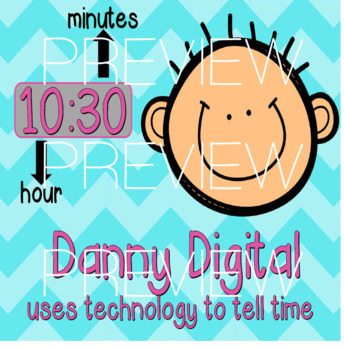 Annie Analog & Danny Digital- Analog and Digital Clock Posters