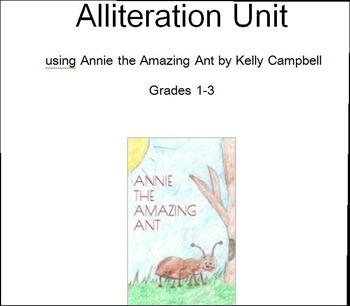 Annie Ant Alliteration Unit