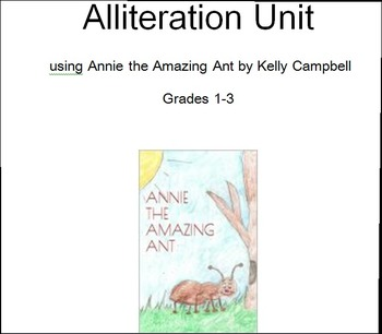 Annie Ant Alliteration Unit