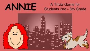 Annie (movie/Film) Team Trivia Game / Review Activity