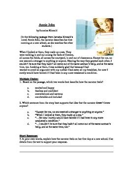 Annie John - Literary Text Test Prep