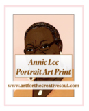 Annie Lee Portrait Art Print
