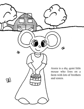Annie Mouse's Adventures: The Coloring Book