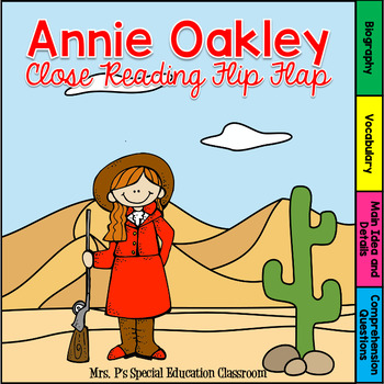 Annie Oakley Close Reading Flip Flap