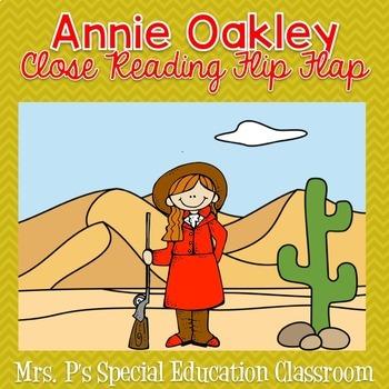 Annie Oakley Close Reading Flip Flap
