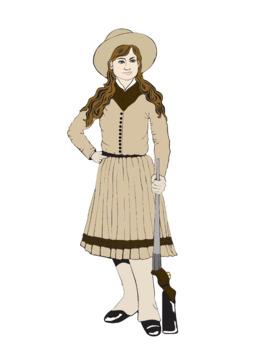 Annie Oakley Tall Tales Clip Art Clipart