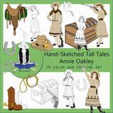 Annie Oakley Tall Tales Clip Art Bundle