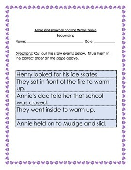 Annie and Snowball and the Wintry Freeze: Guided Reading Packet