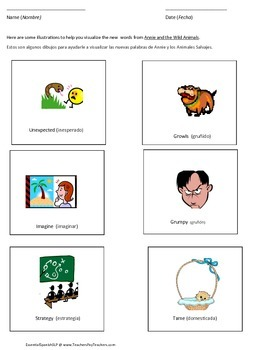 Annie and the Wild Animals- A Bilingual Vocabulary Supplement