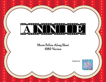 Annie original 1982 movie guide follow along worksheet