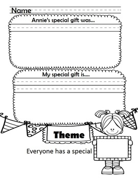 Annie's Gifts Comprehension Packet
