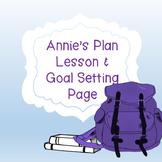 Academic Achievement Lesson - Annie's Plan Goal Setting