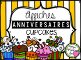 Anniversaire Cupcakes (Affiches)